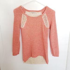 🎀Pink Republic Crochet Sweater